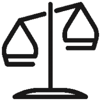 Outlined Balance Scale