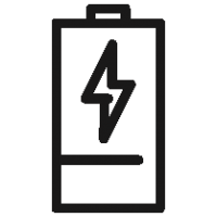 Outlined Battery