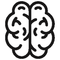 Outlined Brain