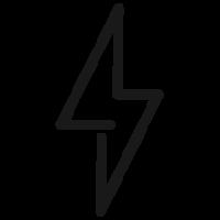Outlined Lightening Bolt