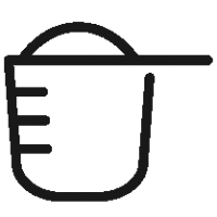 Outlined Protein Serving